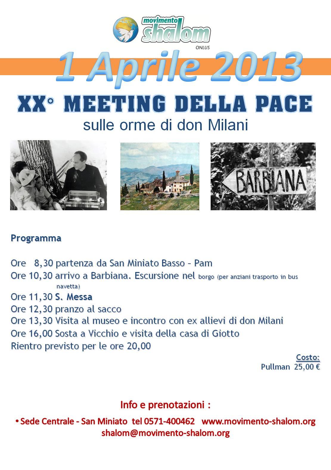 Barbiana: XX Meeting della Pace