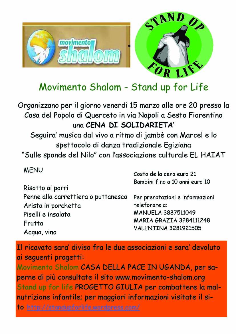Sesto Fiorentino: cena di solidarietà