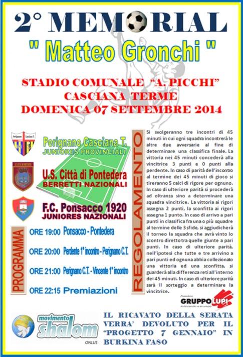 """Casciana Terme: 2° Memorial """"Matteo Gronchi"""""""
