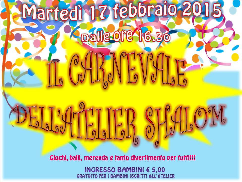 Il Carnevale dell'Atelier Shalom