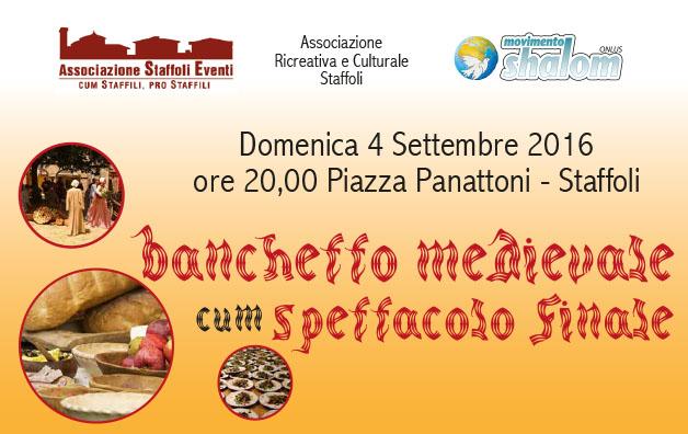 Cena medievale a Staffoli – domenica 4 settembre