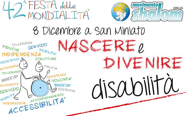 8 dicembre a San Miniato – 42° Festa della Mondialità