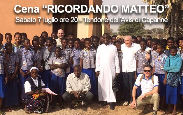 """Serata """"RICORDANDO MATTEO"""" il 7 luglio alle Capanne"""