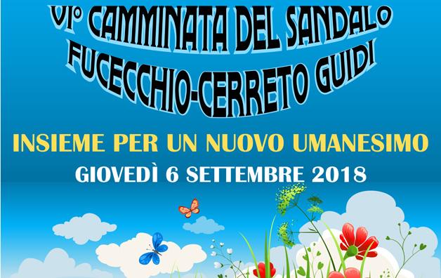 VI Camminata del Sandalo da Fucecchio a Cerreto Guidi – 6 settembre
