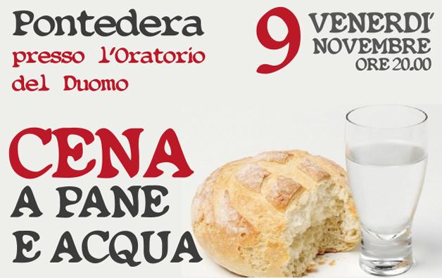 Cena a Pane e Acqua a Pontedera il 9 novembre
