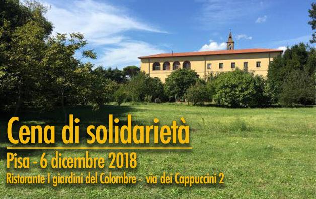 Cena di solidarietà a Pisa il 6 dicembre