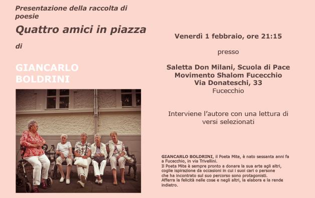 Presentazione delle poesie di Giancarlo Boldrini