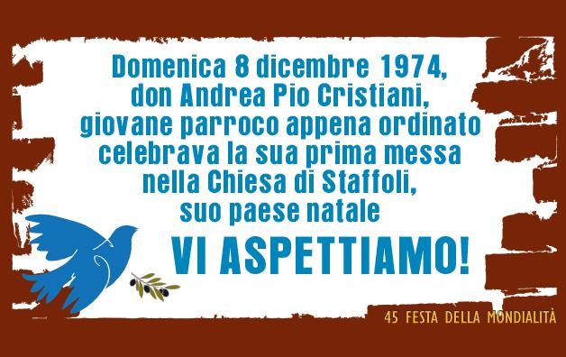 45° anniversario di sacerdozio di Don Andrea