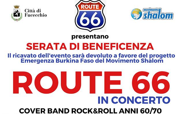 Route 66 in concerto a Fucecchio per il Burkina Faso