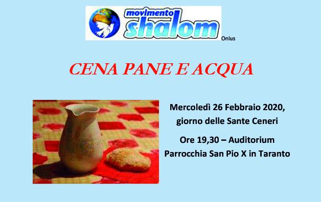 Cena a pane e acqua – Taranto