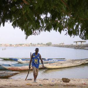 Pagina del libro fotografico di Tommaso Tancredi sul Senegal