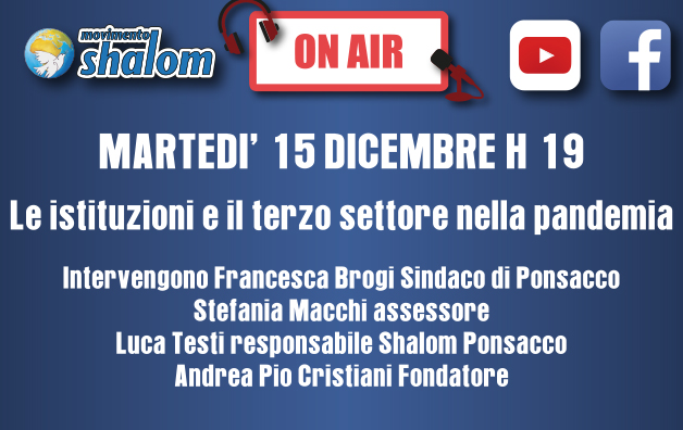 Shalom on air - Diretta Facebook del 15 dicembre 2020