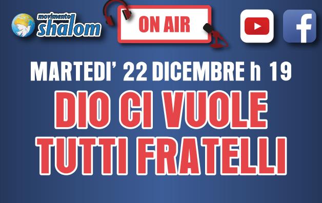 Shalom on air - Diretta Facebook del 22 dicembre 2020