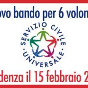 Servizio civile 2021 – scadenza 15 febbraio 2021
