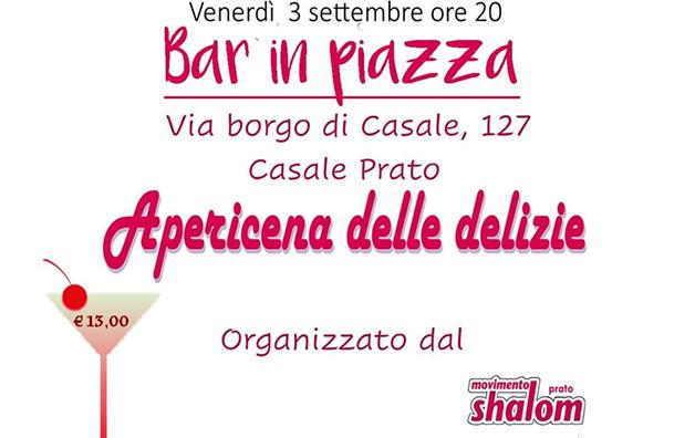Apericena delle delizie a Prato – 03/09/2021
